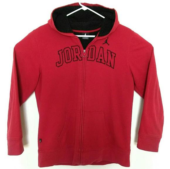 Jordan Jackets   Blazers - Air Jordan Womens XL Spellout Hoodie Jacket Red 393c90c31